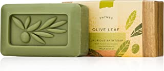 Thymes - Olive Leaf Luxurious Bath Soap - Naturally Conditioning Bar Soap with Moisturizing Olive Oil - 6 ounce