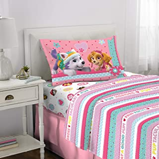 Franco Kids Bedding Super Soft Sheet Set, 3 Piece Twin Size, Paw Patrol Pink
