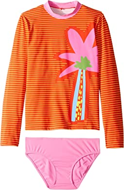 Striped Palm Swim Set (Toddler/Little Kids/Big Kids)
