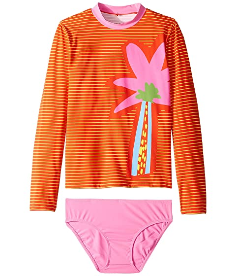 Stella McCartney Kids Striped Palm Swim Set (Toddler/Little Kids/Big Kids)