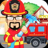 Pretend Play Fire Station Game : Town Firefighter