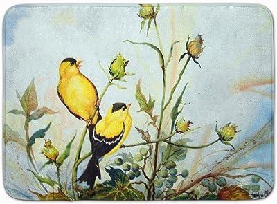 "Caroline's Treasures Joyful Morning Birds Floor Mat, PJC1112RUG, Multicolor, 19"" x 27"""