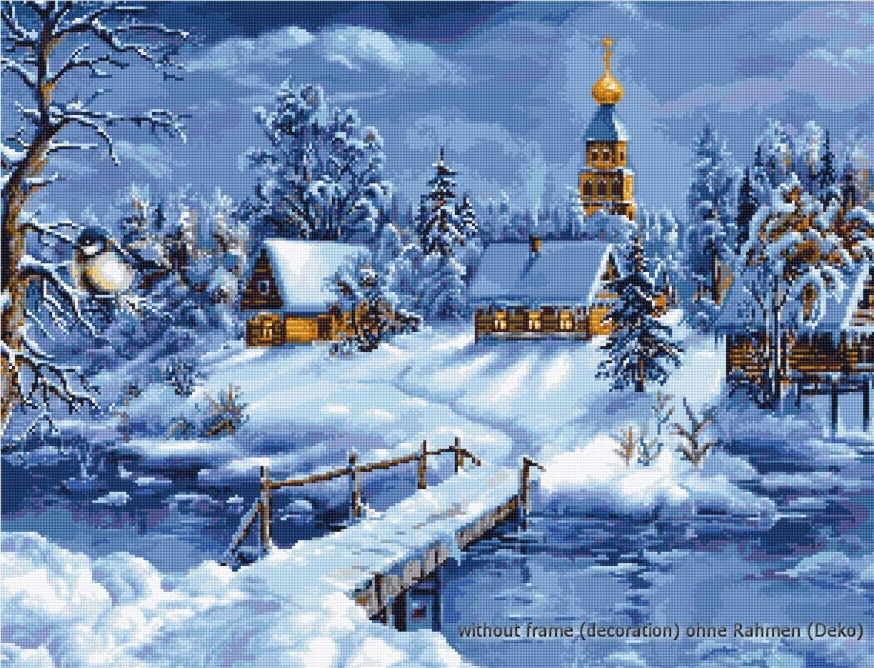 Luca-S Winter Landscape Limited time cheap sale Counted Stitch Cross Kit Max 58% OFF