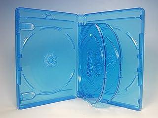 ブルーレイケース 6枚収納 68個 / クリアブルー/ロゴ有 (Blu-rayケース/BDケース)