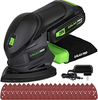 GALAX PRO Cordless Sander 20V, 20Pcs Sandpapers,12000 RPM Sanders with Dust Collection System for Tight Spaces Sanding in Home Decoration, Battery and Charger Included