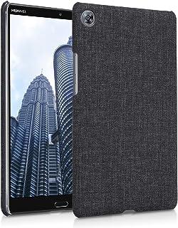 kwmobile ハードケース 布 カバー 対応: Huawei MediaPad M5 8 - カバー ケース 布地デザイン ダークグレー ファーウェイ メディアパッド