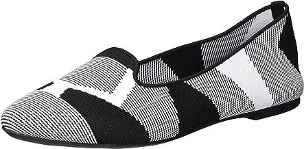 Skechers Women's Cleo-Sherlock-Engineered Knit Loafer Skimmer Ballet Flat