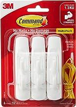 Command 17001VP Utility Hook Value Pack, Medium, White