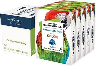 Hammermill Printer Paper, Premium Color 28 lb Copy Paper, 8.5 x 11 - 5 Ream (2,500 Sheets) - 100 Bright, Made in the USA, ...