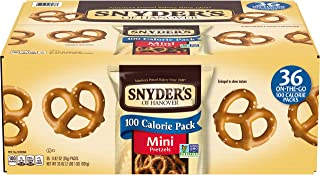 Snyder's of Hanover Pretzels, Mini Pretzels 100 Calorie Packs (Pack of 36)