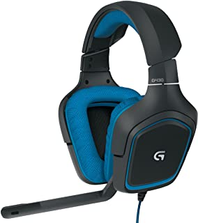 Logitech G430 7.1 DTS Headphone: X and Dolby Surround Sound Gaming Headset for PC, Playstation 4 – On-Cable Controls – Sports-Performance Ear Pads – Rotating Ear Cups – Light Weight Design, Blue/Black