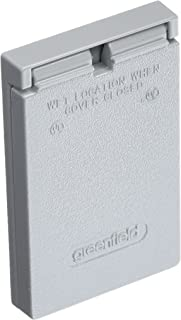 Greenfield CGFIVPS Series Weatherproof Electrical Outlet Box Cover, Gray