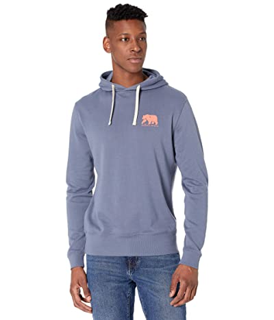 The Normal Brand Clay Fleece Hoodie Two-Tone Bear (Mineral Blue) Men