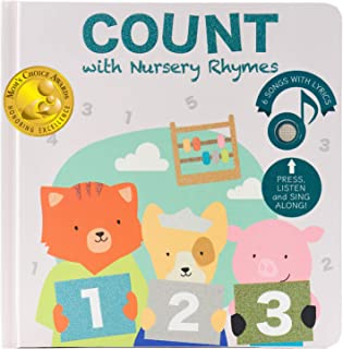 Cali's Books Count with Nursery Rhymes Sound Book. Educational Toy for Toddlers 1-3 and 2-4. Interactive Book with Countin...