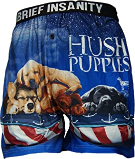 American Fido Comfortable Loose Fit Graphic Boxers   Silky Soft Novelty Underwear for Men