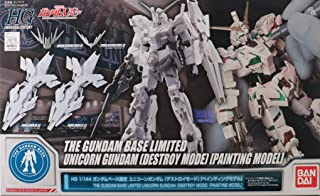 Bandai HG 1/144 The Gundam Base Limited Unicorn Gundam Destroy Mode [Painting Model]