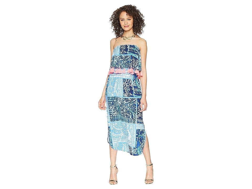 Lilly Pulitzer Meridian Midi Dress (Deep Indigo Leied Back) Women