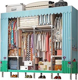 ZoSiP Penderies Rangement pour vêtements Armoire Vêtements Portable Organisateur Closet Tissu Couverture en Tissu avec éta...