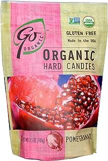 Go Organic Hard Candy - Pomegranate - 3.5 Oz - Case of 6