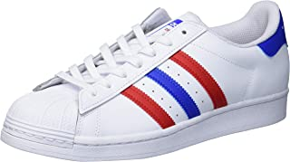 adidas Originals Superstar, Sneaker Uomo, Nero, Verde, Arancione, 49 EU