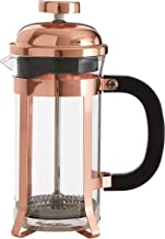 Premier Housewares 800 ML Cafetiere Kleine Rose Gold Koffie Caffettiera Koffiezetapparaat Borosilicaatglas Franse pers (H ...