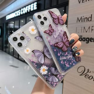 Cute women's iphone cover 11/12 pro max. Glitter Case 2021-with Moving Shiny Quicksand Floating Waterfall,