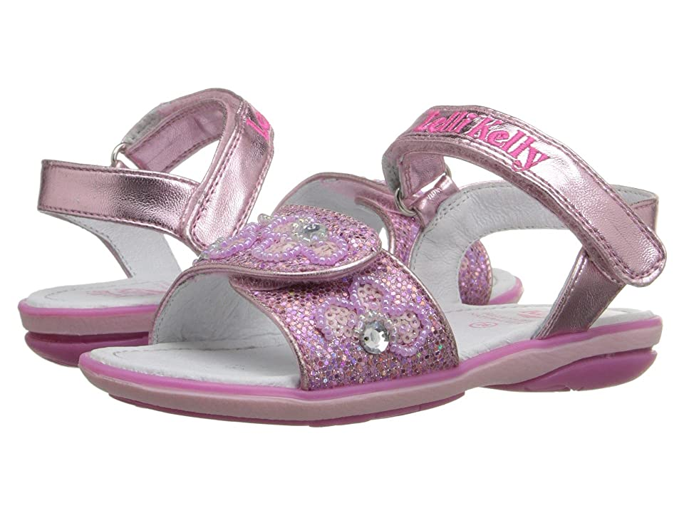 Lelli Kelly Kids Fiore Sandal (Toddler/Little Kid) (Pink Glitter) Girls Shoes