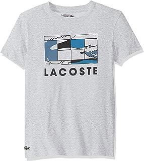Lacoste Mens Sport Short Sleeve Graphic Squares T-Shirt