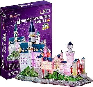 Cubic Fun 3D LED Neuschwanstein Castle Puzzle, 128 Pieces - Multi Color