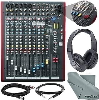 Allen & Heath ZED-12FX 12-Channel Recording Mixer with USB Connection and FX & Accessory Bundle w/Closed-Back Headphones + Cables + Fibertique