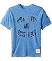 High Fives & Good Vibes Short Sleeve Tri-Blend Tee (Big Kids)