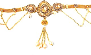 R AYIE Pearl Gold Plated Jewellery Kamarband for Women