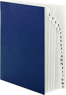 Smead 桌面文件/圆筒隔片,字母尺寸 字母 Letter 蓝色