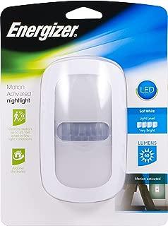 Energizer LED Motion Activated Décor Nightlight, Designer White Finish, Plug-in, Light Sensing, Soft White, 40 Lumens, Light Sensing, Dusk to Dawn Sensor, Energy-Efficient, 41136