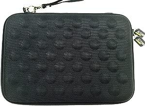 AZ-Cover Tablet Semi-rigid EVA Bubble Foam Case (BLACK) With Wrist Strap For nabi Jr. nick Jr. Edition Tablet + One Capacitive Stylus Pen