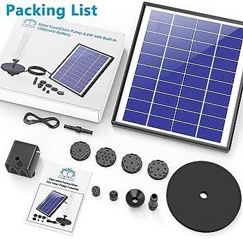 LED Pond Solar Pump Garden Esotec 101926 Solar Pond Pump 50W 1300l//h Battery