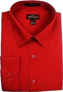 Men's Solid Long Sleeve Dress Shirt