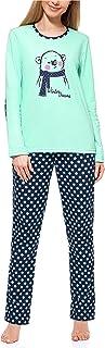 comprar comparacion Merry Style Pijama Conjunto Camiseta y Pantalones Ropa de Cama Mujer MS10-169