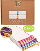 Reusable Bamboo Towels | Kitchen Unpaper Towel | Eco-Friendly Paper Towel Alternative | Organic Wipes | Unbleached Cleanin...