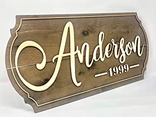 Personalized Last Name Sign family name sign Rustic wood sign