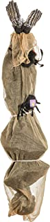 Halloween Haunters 5 Foot Hanging Human Body Cocoon Corpse Prop Decoration - Scary Mummy with Spooky Spiders and Webs - Haunted House, Graveyard Entryway Party Display