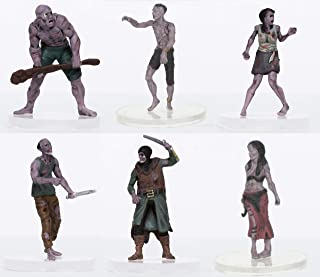 Characters of Adventure - Zombies Party of 6 - Plastic Miniatures for D&D or Pathfinder