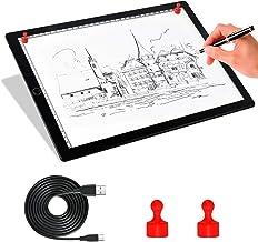 Comzler A4 Light Box قابل حمل LED قابل ردیابی کپی تابلو چراغ روشنایی - فوق العاده نازک قابل تنظیم USB Power Magnetic Trace Light Light Dimmable برای طراحی تاتو ، جریان ، طراحی ، انیمیشن ، استنسیل