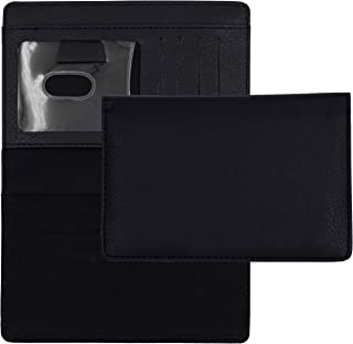 Black Textured Leather Checkbook Cover for Top Stub Personal Checks