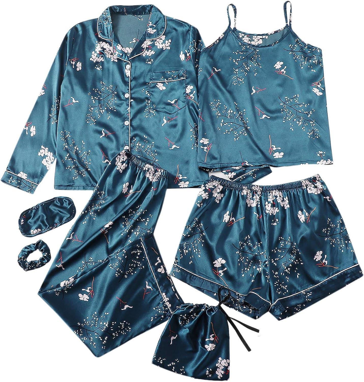 SheIn Women's Plus Size Sleepwear Max 85% OFF 7pcs Cami Satin New Orleans Mall Pajama Sets Sh