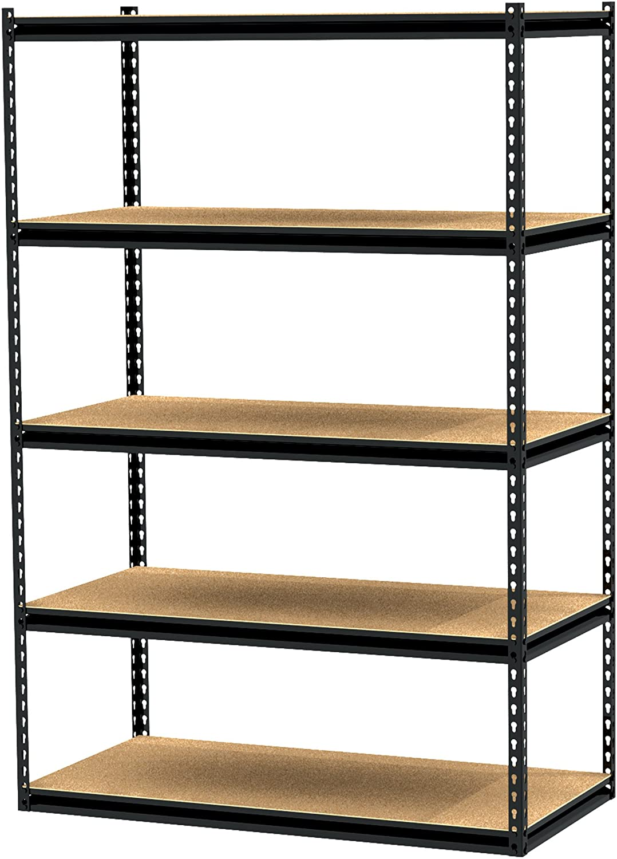 Gorilla Rack GRZ20 20 20PCB 20 by 20 by 20 Inch Shelving Unit with 20 shelf,  Black