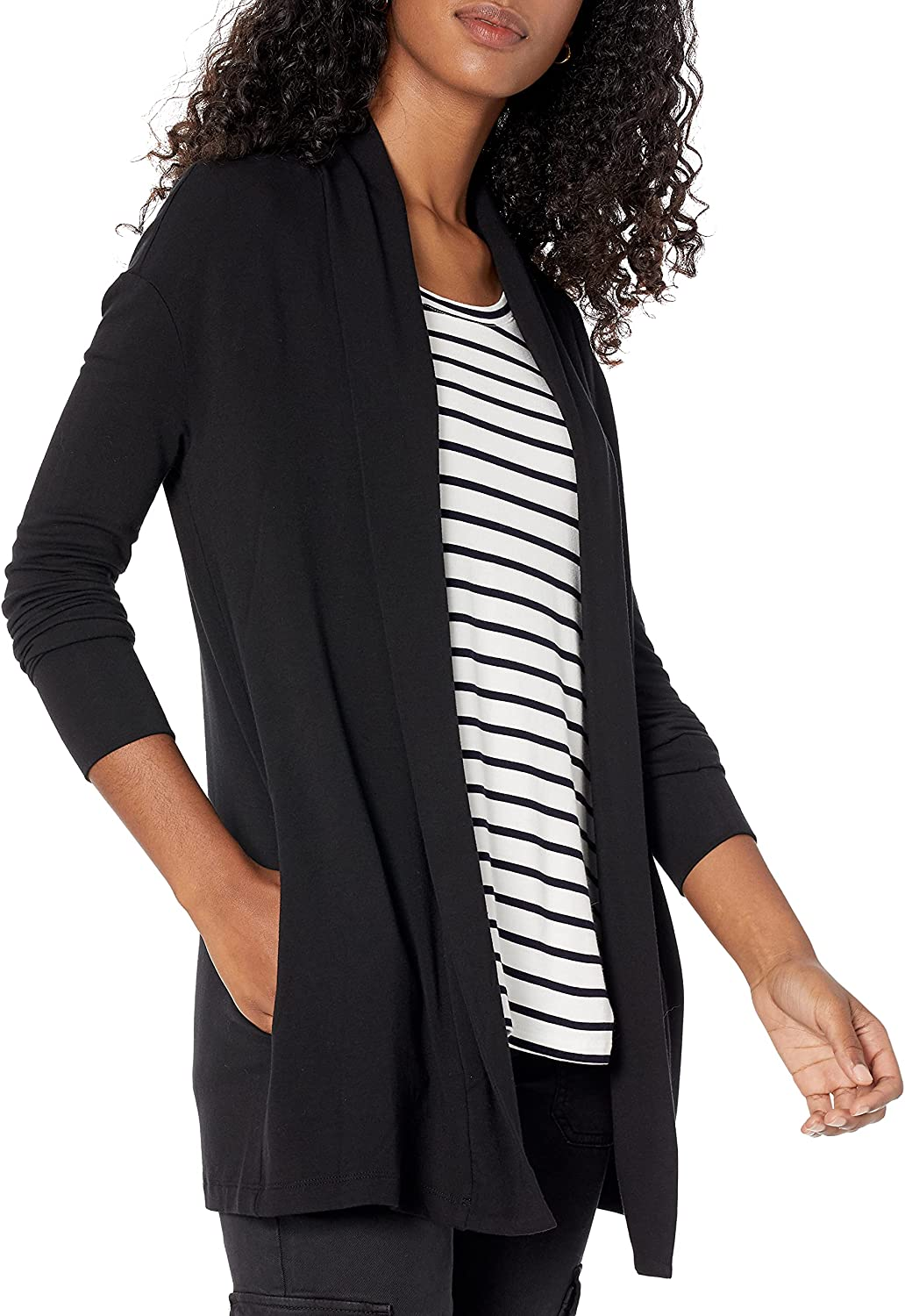 Brand - Daily Ritual Women's Supersoft Terry Open Sweatshirt : Clothing, Shoes & Jewelry