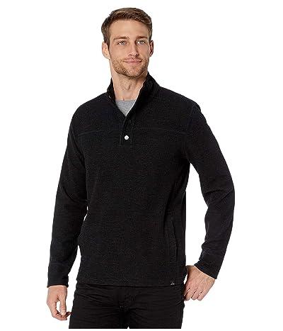 Prana Leonidas Long Sleeve Henley Sweater (Black) Men