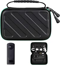 EEEKit Portable Travel Cable Organizer for Ricoh Theta Z1/V/S/SC/M15, Electronics Accessories Cases Digital Bag for Hard Drives, Charging Cords, USB Charger Adapter, USB Flash Drives, Data Cable