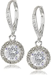 Betsey Johnson Iconic Cubic Zirconia Round Drop Earrings